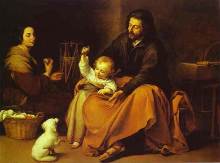 Resultado de imagen para la sagrada familia pintura