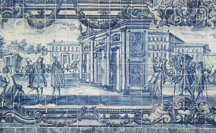 Resultado de imaxes para azulejo portugés S. XVII