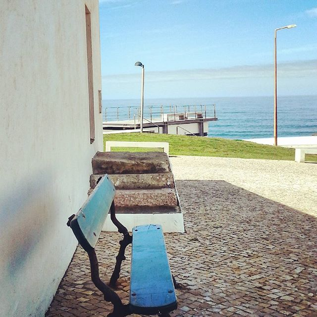 The old, the new and the #sea. #ericeira #portugal #capeladesaosebastiao