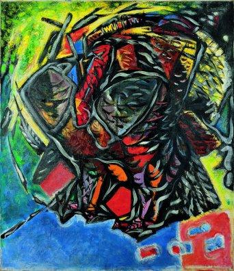 André Masson, Le dindon, 1947, olio su tela, 96x83 cm