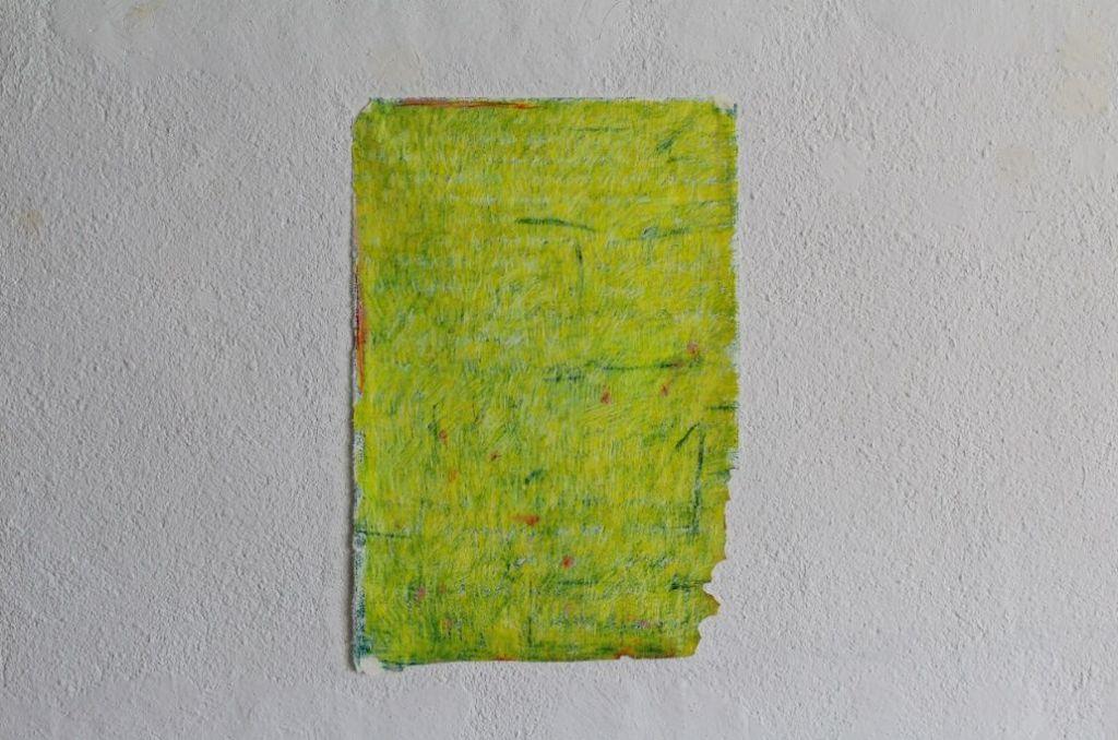 Pablo del Pozo. Sin título (filtro amarillo) 2018. Pastel sobre papel japonés.