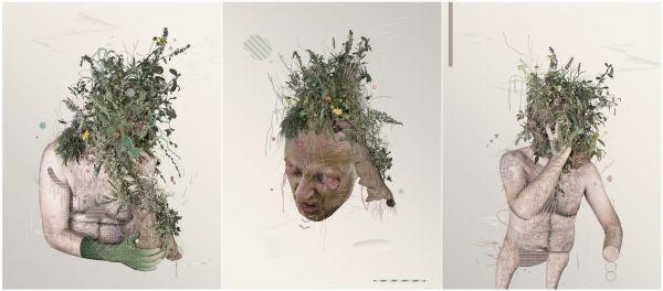 Manuel Acedo. Tríptico disponible en Arte Actual Extremadura