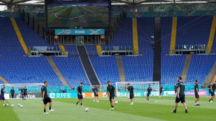 La Selección de Italia se entrena para el partido inaugural de la Eurocopa 2020 (AP Photo/Alessandra Tarantino).