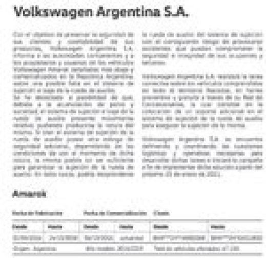 Aviso de Volkswagen publicado hoy en el diario La Nación.