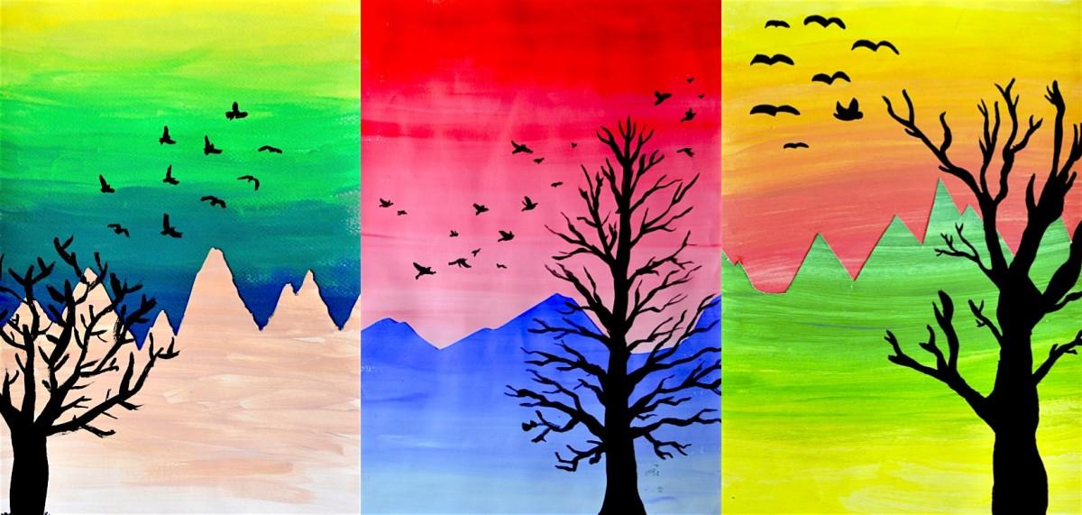 Gradazioni Cromatiche E Tonali Per Un Paesaggio