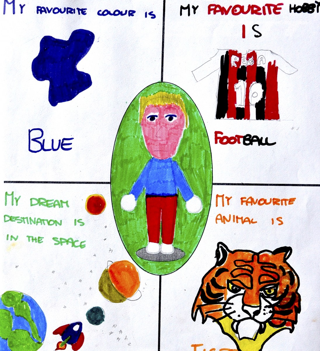 Drawing About Me 2 Worksheets