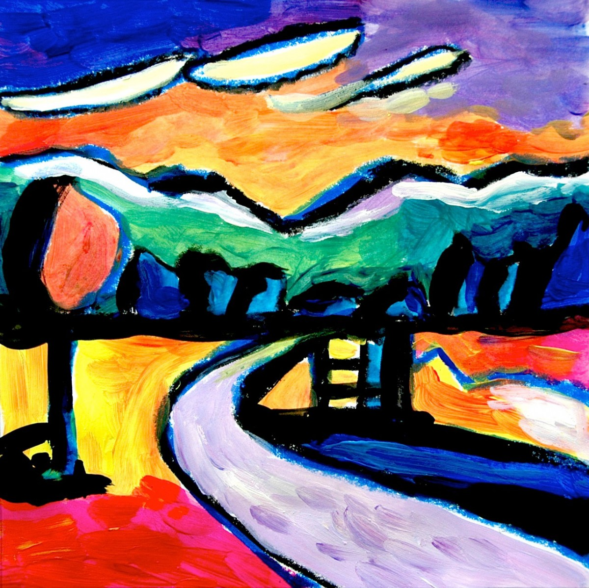 Inspired By The Kandinsky S Landscapes