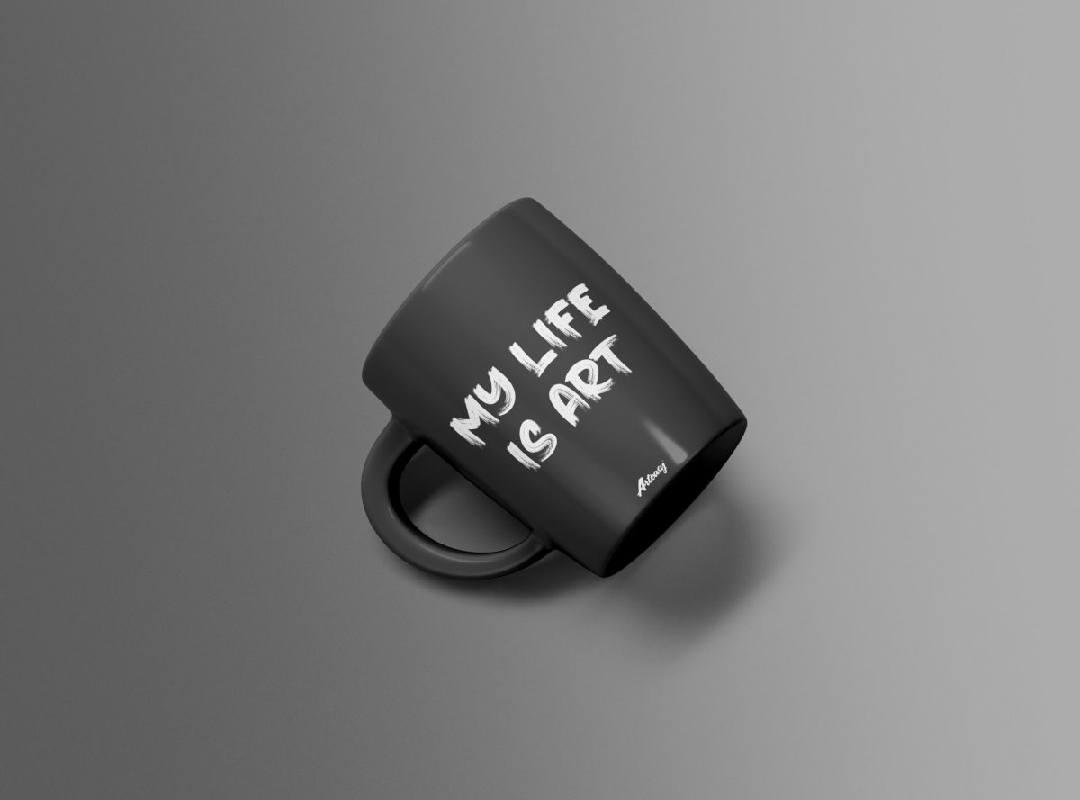 "Arteasy ""My Life Is Art"" Classic Black Mug"