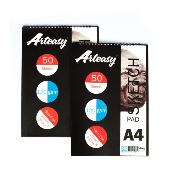 Arteasy sketchpad A4 pack of 2