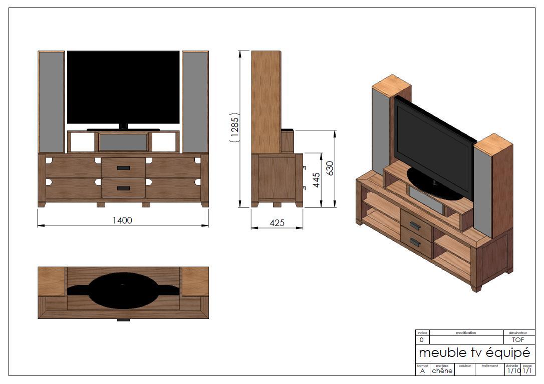meuble de televison de style scandinave