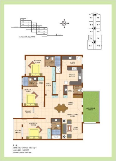 Artech Srirema, Trivandrum Layout : Plan-F2