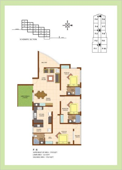 Artech Srirema, Trivandrum Layout : Plan-F6