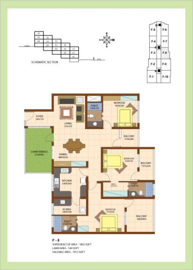 Artech Srirema, Trivandrum Layout : Plan-F8