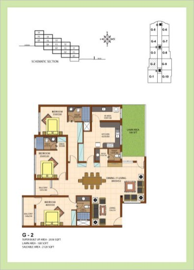 Artech Srirema, Trivandrum Layout : Plan-G2