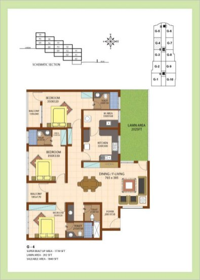 Artech Srirema, Trivandrum Layout : Plan-G4