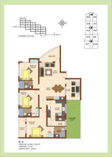 Artech Srirema, Trivandrum Layout : Plan-G5