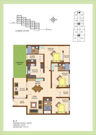 Artech Srirema, Trivandrum Layout : Plan-G7