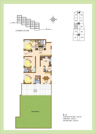 Artech Srirema, Trivandrum Layout : Plan-S3