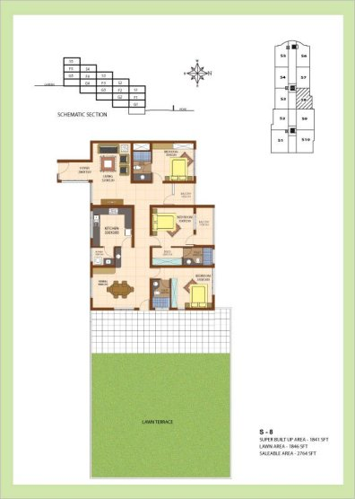 Artech Srirema, Trivandrum Layout : Plan-S8