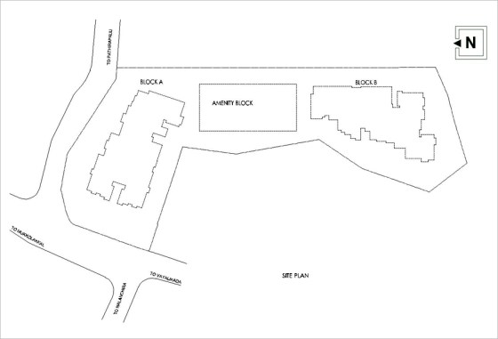 Artech Varsha, Nalanchira Layout : Site Plan
