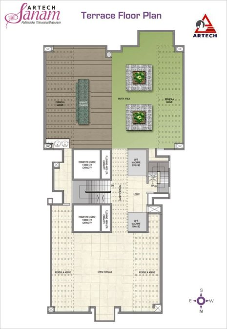 Artech Sanam, Trivandrum Layout : Terrace Floor Plan