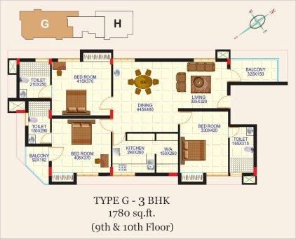 Artech Alliance, Sreekaryam Layout Type - G1