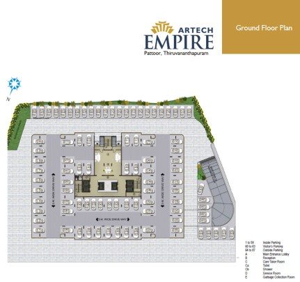Artech Empire, Pattoor - Layout Ground Floor