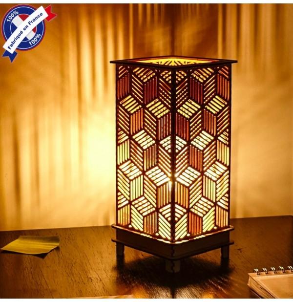 lampe bois calixe