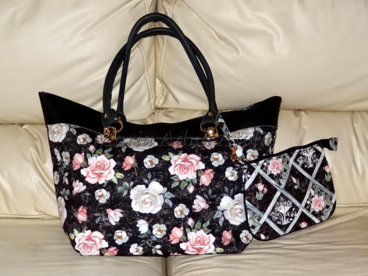 Bolsa De Tecido Linda : Bolsa de tecido e sint?tico com ferragens linda arte