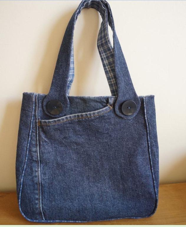 54cd4b1c0 Bolsa de jeans e um modelo bem bonito | Arte com Tecidos
