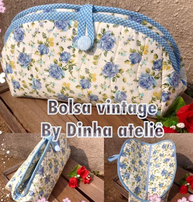 Bolsa De Tecido Vintage : Molde bolsa de tecido com ziper al a