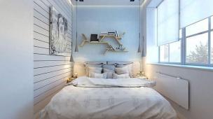 quarto de casal planejado pequeno