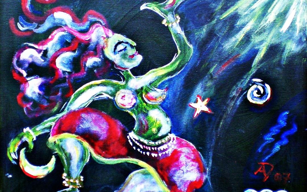 Ama no Uzume – Japanisch-shintoistische Fruchtbarkeitsgöttin, Göttin des Tanzes und des Lachens und der Fröhlichkeit sowie der Morgenröte