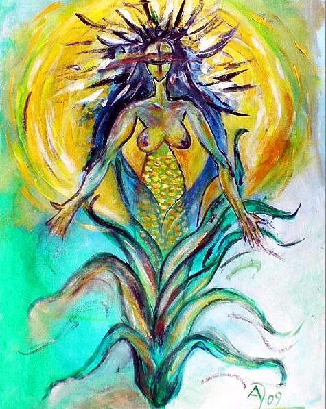 H'Uraru – Erdgöttin und Maisgroßmutter der nordamerikanischen Pawnee