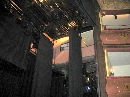 Aposento sobre el escenario