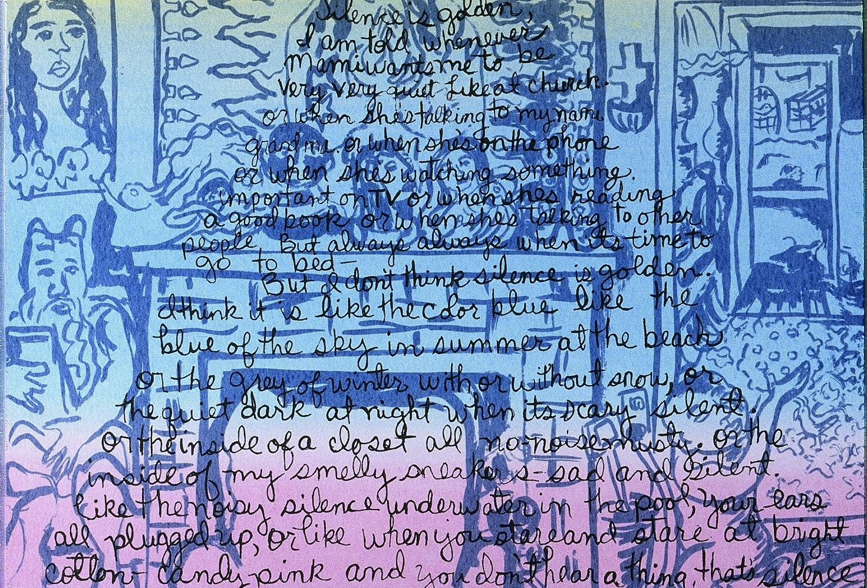 Silence is golden collaboration with Norma E.Cantu, printed at Coronado Studios, Austin TX