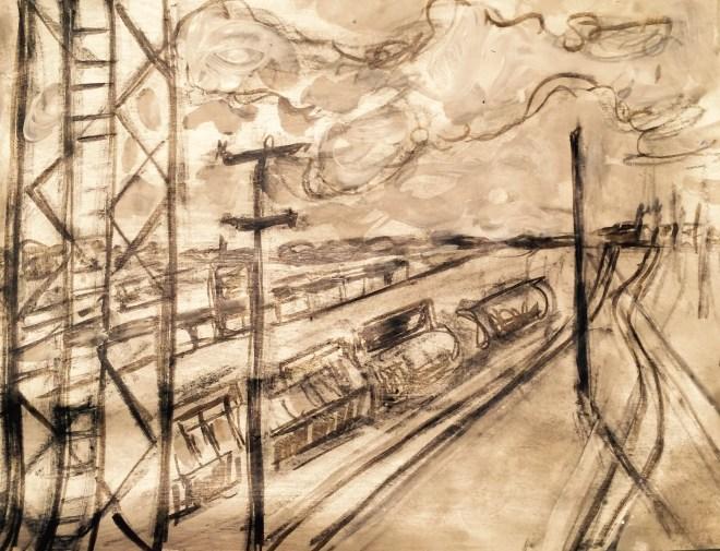 """Tierra de plata. acrylic on paper 8""""x10"""""""
