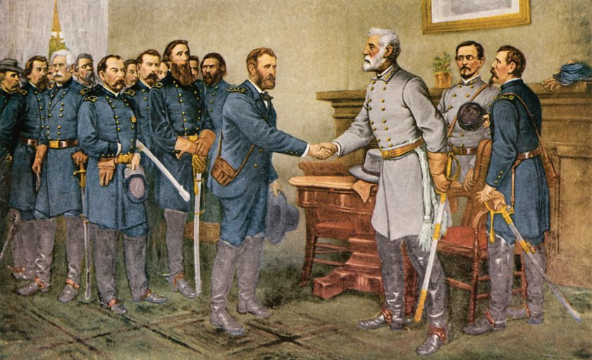 La rendición de Lee en Appomattox (Thomas Nast)