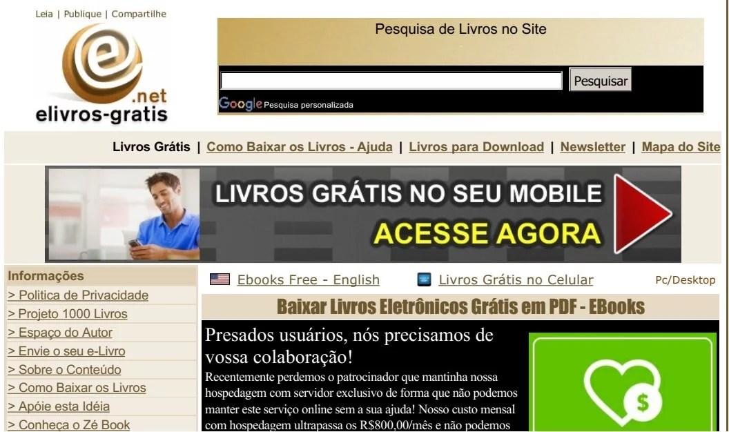 site e-livros.gratis
