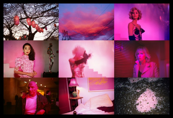 Nan Goldin, Pink Grid, 2016, Cibachrome marouflé sur dibond, 150 x 219 cm, Edition de 3. Courtesy of Nan Goldin and Art Bärtschi & Cie