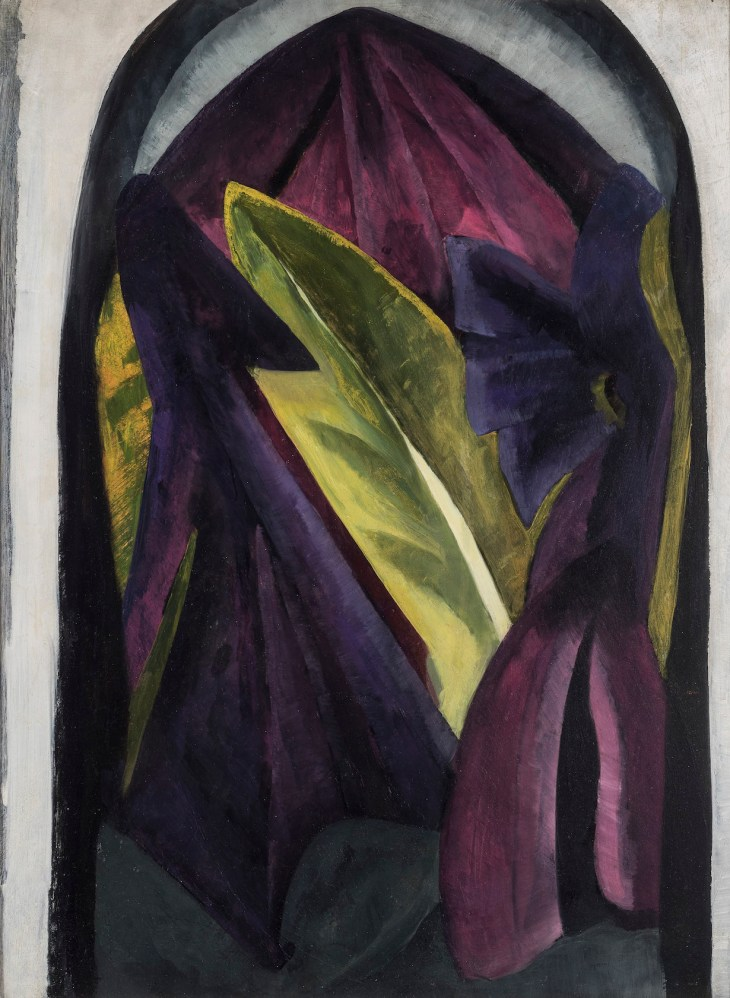 Purple & Green Leaves (c) Estate of Helen Torr, with the permission of John and Diane Rehm.jpg