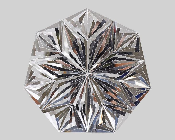 Monir Farmanfarmaian_Untitled (Heptagon)_2016_Mirror on plexiglass_33 cm in diameter - smaller size.jpg