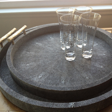 faux shagreen trays