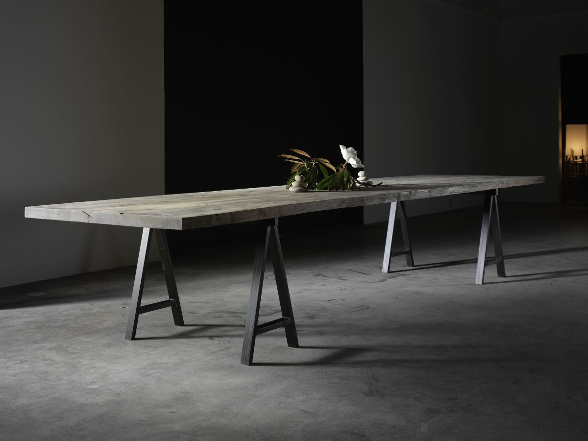 Metal Trestle Table