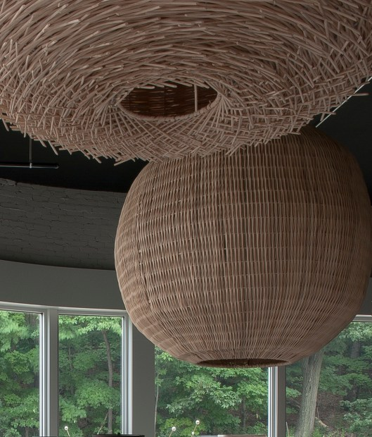 big wicker ball awesome scale - great fun dropped low or sitting on the floor Retail $ 360 Special Nov. 1st + Nov. 2nd $ 160