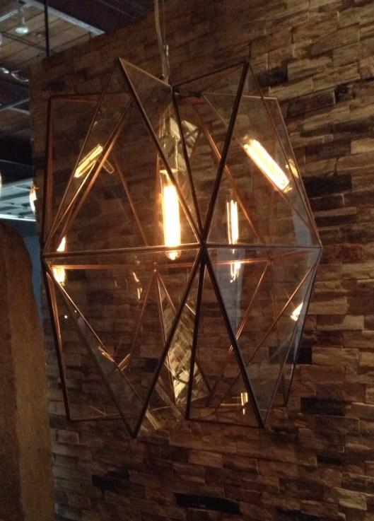 Folded Glass LG with Edison Bulb