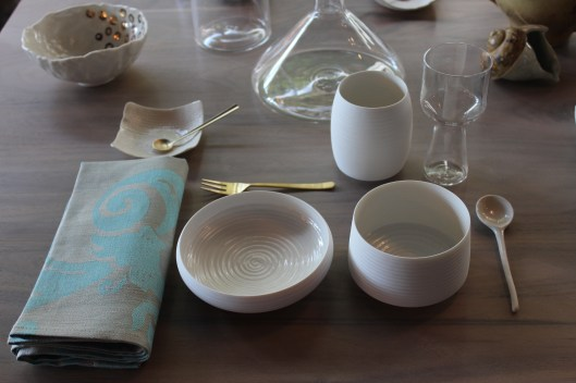 cold mountain bowls + mugs - matte on the outside, smooth glaze on the interior - casual yet elegant shapes -