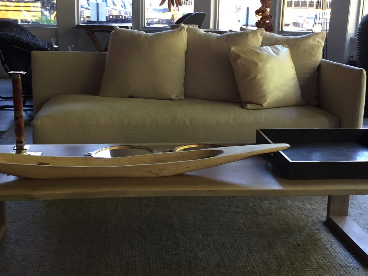 kate-one arm sofa with channel table@artefacthome