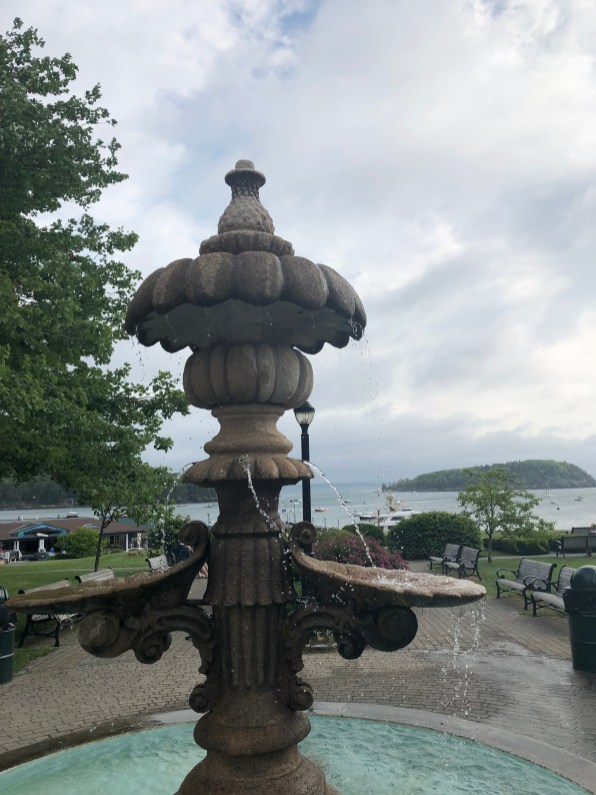 bar harbor-morning coffee-rain rolling in