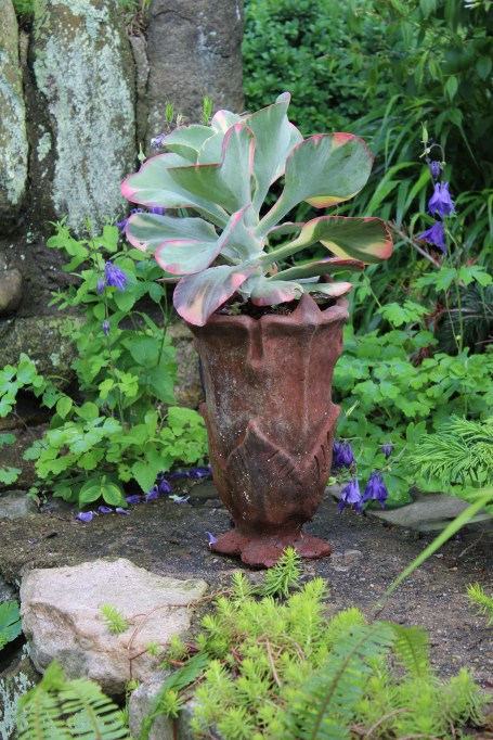 make it interesting - aged terra cotta planter